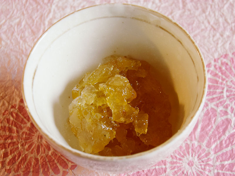 Candied Yuzu to be used in leavened,bakery and praline products